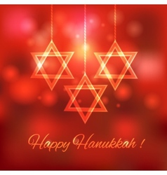 Happy hanukkah blurred background vector