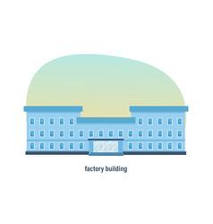 industrial industrial three-story factory building vector image vector image