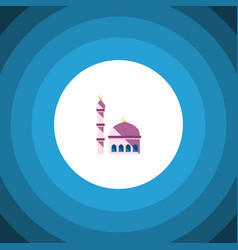 Isolated mosque flat icon building element vector