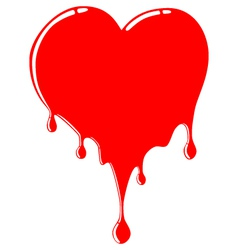 melting heart vector image