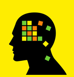 Mind concept graphic for memory loss or vector