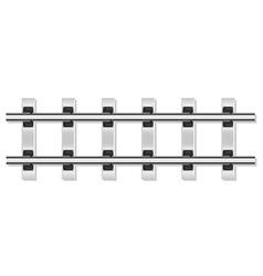 railway rails 02 vector image