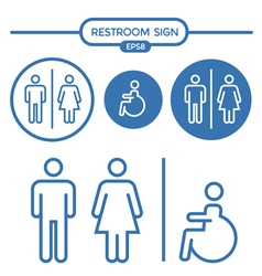 Restroom male female and cripple sign vector image