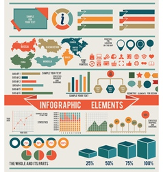 Set of infographic elements for design vector image vector image