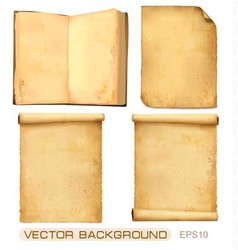 set of old paper sheets vector image vector image