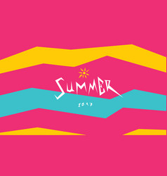 summer text vector image vector image