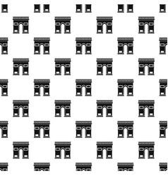 Triumphal arch pattern vector