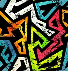 Urban grunge geometric seamless pattern vector