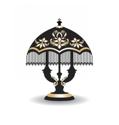 Vintage Baroque Classic lamp vector image