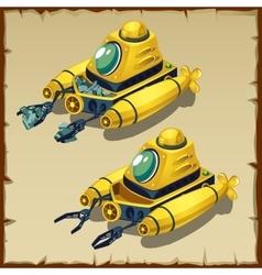Yellow submarine a shredding stones vector image