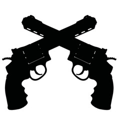 two heavy revolvers vector image
