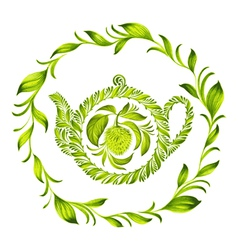 Decorative ornament herbal circle vector