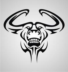 Bulls head tattoo vector
