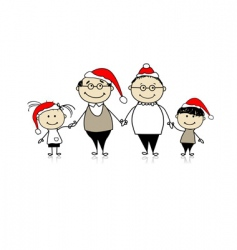 merry Christmas happy family together vector image