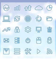 25 big data database icons set vector