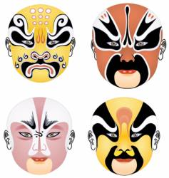 china mask vector image