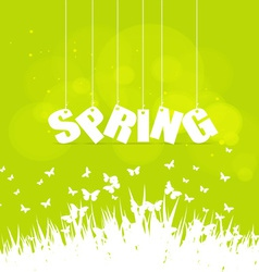 Spring word hanging on a strings vector