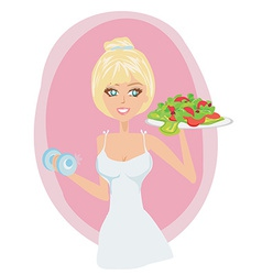 Healthy weight loss vector