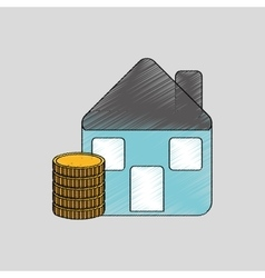 Investment housing design vector