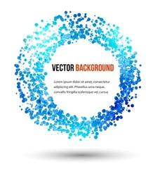Abstract water and circle vector