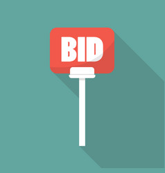 auction paddle in flat style vector image vector image