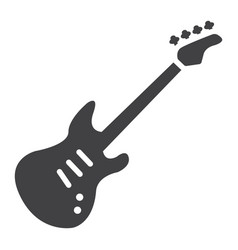 bass guitar glyph icon music and instrument vector image vector image