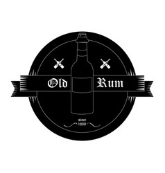 Black bottle emblem vector