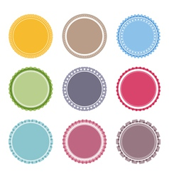 Blank Round Labels vector image vector image