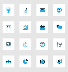 Business colorful icons set collection of local vector