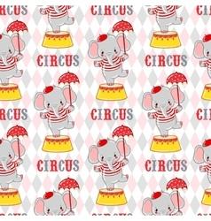 Circus elephant on a pedestal vector