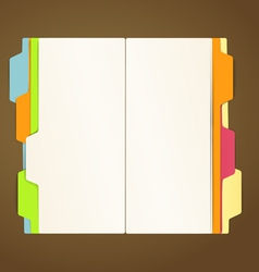 Copy-book on a table template vector image