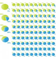 diagram set vector image vector image