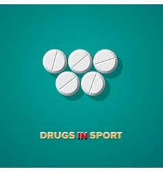Drugs in sport vector image vector image