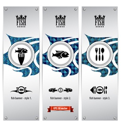fish banners vector image