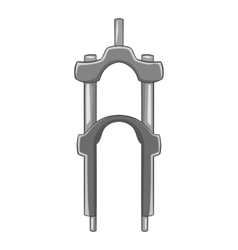 Fork for bicycle icon gray monochrome style vector