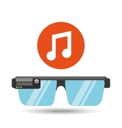Glasses technology music application media vector