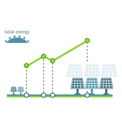 Green energy diagram solar panel vector