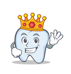 King tooth character cartoon style vector