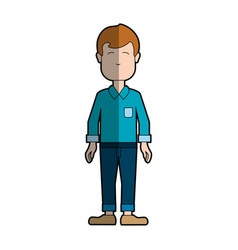 Man with shirt and pants casual cloth vector