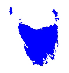 Map of Tasmania vector image vector image