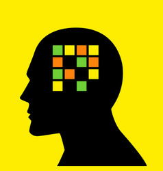 Mind concept graphic for memory loss or amnesia vector
