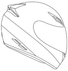 Motorbike racing helmet vector image vector image