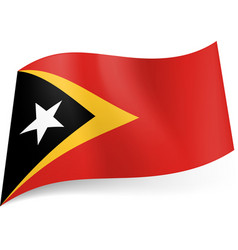National flag of east timor black triangle with vector