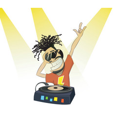 Nice cartoon dj vector