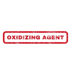 Oxidizing agent rubber stamp vector