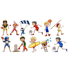 People engaging in different activities vector image vector image