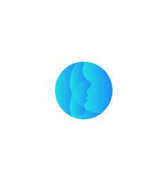 plastic surgery company round logo vector image