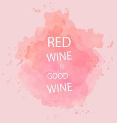 Red wine tasting card vector