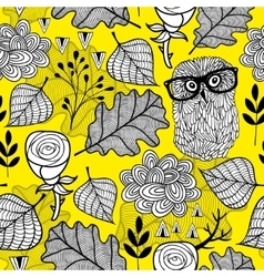 Seamless pattern with autumn colors vector