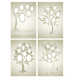 set of family tree 2 vector image vector image